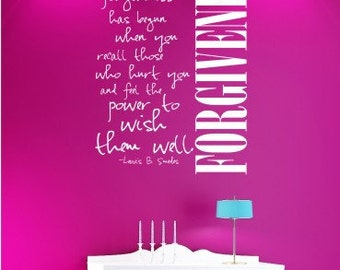 Wall Decals Quote Forgiveness Louis Smedes - Vinyl Text Wall Quotes