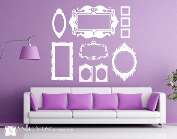 Frame Wall Decals Baroque Collection (Large)