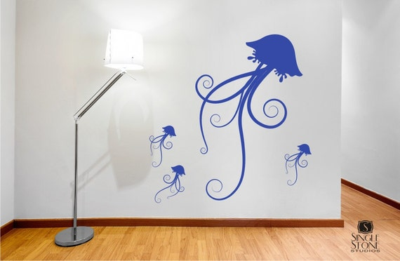 Jellyfish Family Wall Decal - Vinyl Wall Stickers Art