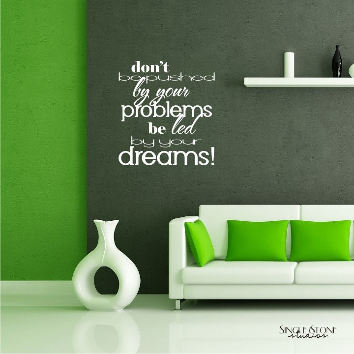 Wall Decoration Text : Wall decals quote led by dreams vinyl text quotes