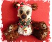 artist mohair teddy bear, handmade