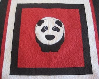 While I Wait Panda Quilt Childs Quilt