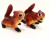 Vintage Chipmunk Figurines- Set of 2, Kelvin's, Mid-Century - GravityNTheEveryday