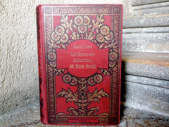 Custom Wedding Guest Book Vintage French Cover Personalized Red and Gold Ornate Book