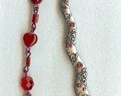 Individual Worth Red Gem and Rose Scripture Marker