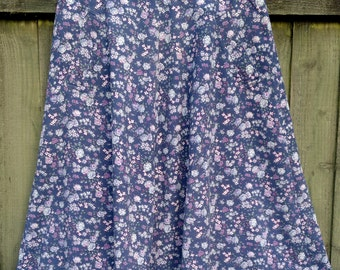 Vintage Laura Ashley style 1970s corduroy skirt