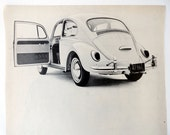 1967 Vintage Original Ad. Vintage Volkswagen Ad. Ready to Frame. VW Ad. 1960s Wall Decor