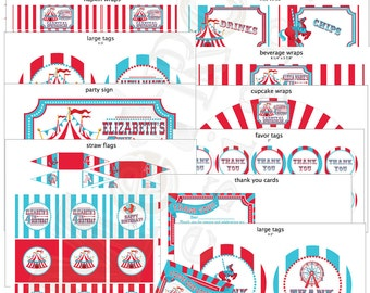 Circus Party Decorations, Carnival Birthday Decorations, Carnival Banner, Circus Banner
