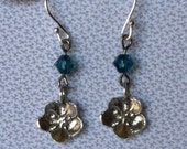Sterling Silver Forget Me Not Small Ball Hook Wire Earrings