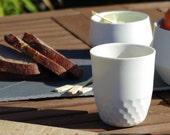 Faceted Porcelain Cup