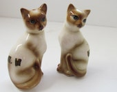 Vintage Siamese Cat Salt and Pepper Shakers