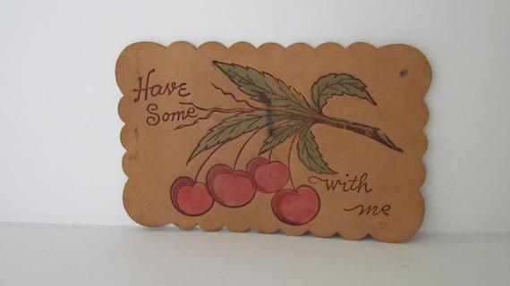 1900s Antique Leather Postcard