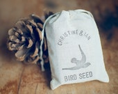 50 Custom Empty Bird Seed Muslin Bag Wedding Ceremony Decor and Favors  (Custom)