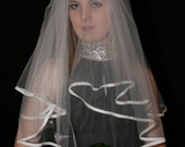 Two tiered ivory veil