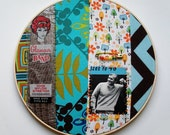 Glamour Band Embroidery Collage Art