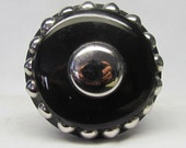 Black with chrome like accent Wine Bottle Stopper