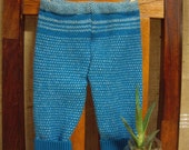 Sale - Sale - Sale - PRICE REDUCED - cotton/wool blue loungers - baby pants