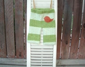 baby loungers - light & dark green striped cashmere pants