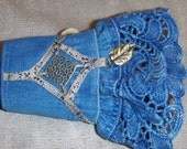 Recycled,Jeans Fabric Cuff Bracelet