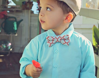 Modern Boys Bowtie - Blue, Red and White   Toddler Bowtie  Toddler Bow tie