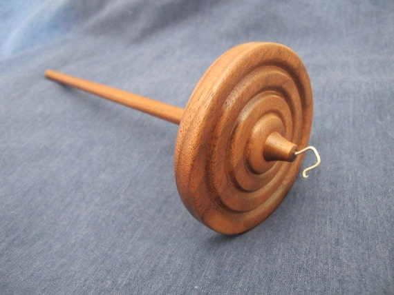 Top Whorl Drop Spindle - Walnut - 1.35 oz/ 38g