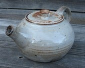 White and Brown Shino Teapot