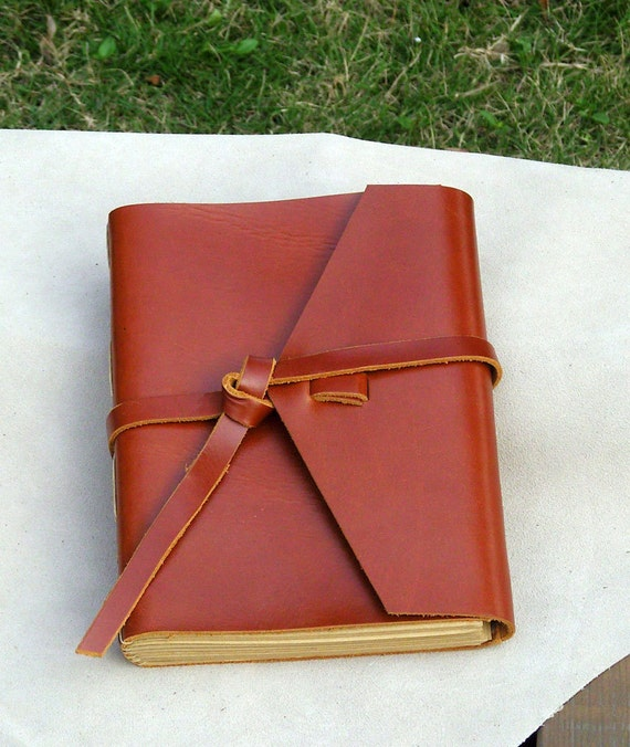 Leather Journal with Tie, Handmade, Blank Notebook, Travel Diary, A5, With Gift Box, Only 1PCS, Special Offer