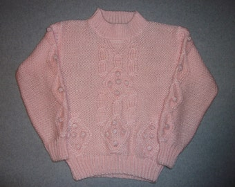Vintage 80s 90s Hipster Pretty In Pink Sweater Halloween Costume Winter Warm Tacky Gaudy Ugly Christmas Party X-Mas S Small