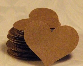 50 Heart Confetti, Kraft Paper Hearts, Paper Heart, Heart Die Cut, Heart Confetti, Heart Punches, Paper Heart Punch, Wedding Heart Confetti,