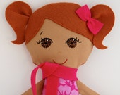 Cloth Doll Ethnic Brown Hair and Brown Eyes My Gigi Doll