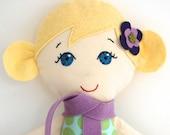 Handmade Cloth Doll Blonde with Blue Eyes My Gigi Doll - Claire