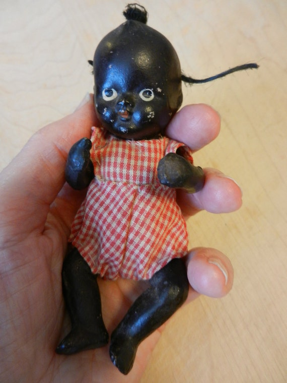 "Black American Bisque Baby Doll Americana ""Pickaninny"""