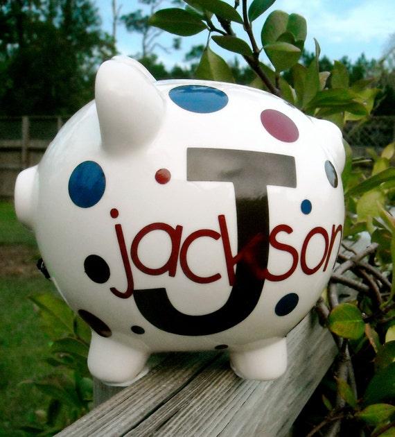 Personalized Medium Piggy Bank