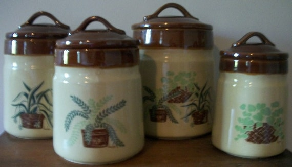 Nancy Lynn Plant-Themed Canister Set of 4 by Daekor