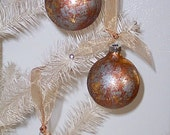 Gold Silver and Copper Dipped Christmas Ornaments