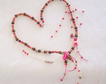 Pink Summer Shell Necklace