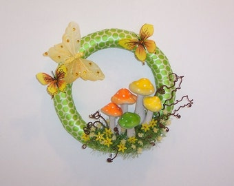 Peace sign pine cone wreath for holidays by for How to make a spring wreath from scratch