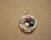 Wire Pendant Bird Nest