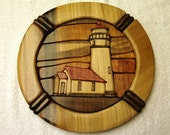 Lighthouse in the Round Intarsia