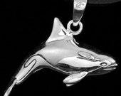 MEDIUM ORCA PENDANT Sterling Silver Copyright