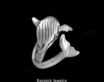 Large Humpback Whale Ring Sizes  6-10