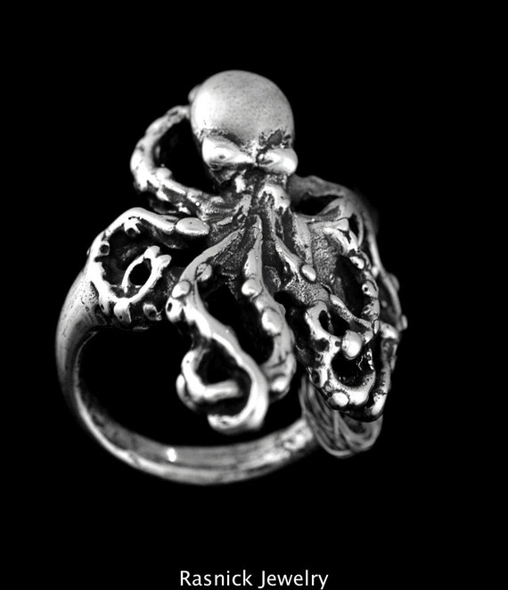 Sterling Silver OCTOPUS RING Sizes 5-12