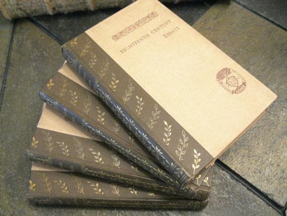 Vintage English Literature Books - Set of 4 - 1889