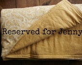 Reserved Listing - Cozy Throw Blanket Made to Order with Free Monogram