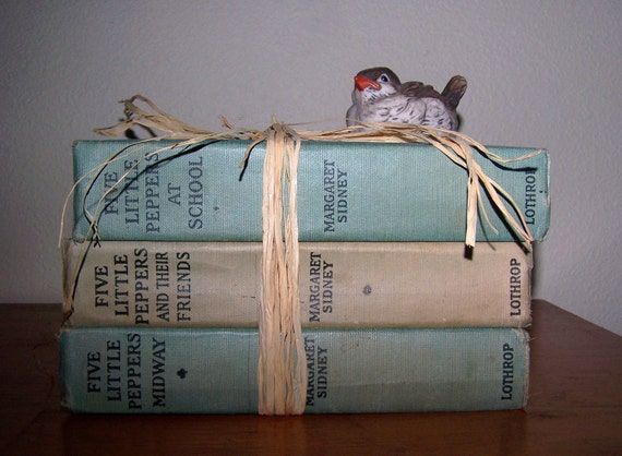 """Lot of 3 Vintage """"FIVE LITTLE PEPPERS"""" Children's Books"""