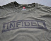 Infidel T shirt non believer atheist military tshirt tactical shirt atheism Infedels for men women teens ranger tab XS - 5XL