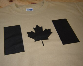 Canadian Flag Canada Forces military t shirt size large, or choice of S,M,L,XL,2XL,3XL