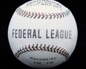 Federal League baseball 1914-1915.  Hand made baseball.