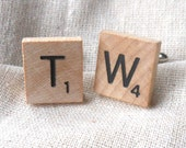 scrabble tile cufflinks
