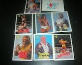 8 vintage WWF Wrestling trading cards wwe - hulk hogan - freddie blassie - more